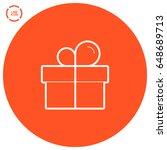 gift box line vector icon   Shutterstock .eps vector #648689713