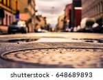 rainy day in the big city  the... | Shutterstock . vector #648689893