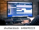 close up  sound engineer  of... | Shutterstock . vector #648690223