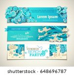 vector set of sea ocean...   Shutterstock .eps vector #648696787