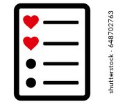 love list page flat icon....   Shutterstock .eps vector #648702763