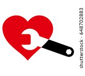 heart surgery wrench flat icon. ...   Shutterstock .eps vector #648702883