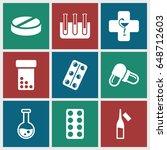 pharmaceutical icons set. set...   Shutterstock .eps vector #648712603