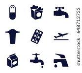 take icons set. set of 9 take...   Shutterstock .eps vector #648712723