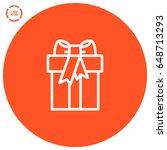 gift box line vector icon   Shutterstock .eps vector #648713293