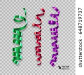 set of colorful ribbons for... | Shutterstock .eps vector #648719737