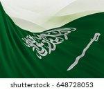 flag of saudi arabia close up   ... | Shutterstock . vector #648728053
