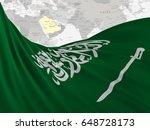 flag of saudi arabia close up ... | Shutterstock . vector #648728173