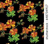 seamless pattern with flowers....   Shutterstock .eps vector #648734917