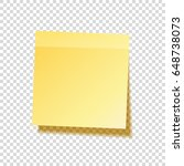 sticky note with shadow... | Shutterstock .eps vector #648738073