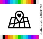 pointer pin up icon with heart...   Shutterstock .eps vector #648738703