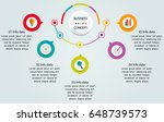 vector infographic 3d circle... | Shutterstock .eps vector #648739573
