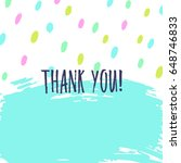 thank you greeting card. hand... | Shutterstock .eps vector #648746833