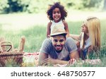 family having fun picnicing in...   Shutterstock . vector #648750577
