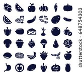 vegetarian icons set. set of 36 ... | Shutterstock .eps vector #648754303