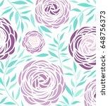 vector ranunculus flower | Shutterstock .eps vector #648756373