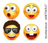 smiley with glasses smiling... | Shutterstock .eps vector #648756517
