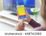 alushta  russia   may 23  2017  ... | Shutterstock . vector #648761083