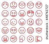 emotion icons set. set of 25...   Shutterstock .eps vector #648762727