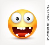 smiley smiling  happy emoticon... | Shutterstock .eps vector #648764767