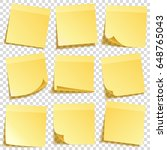 sticky note with shadow... | Shutterstock .eps vector #648765043