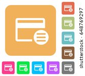 credit card options flat icons... | Shutterstock .eps vector #648769297