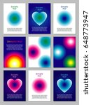 big set of 9 card templates...   Shutterstock .eps vector #648773947