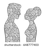male and female silhouettes...   Shutterstock .eps vector #648777403