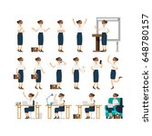 large vector set of business... | Shutterstock .eps vector #648780157