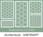 decorative panels set for laser ...   Shutterstock .eps vector #648783697