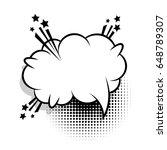 bubble icon speech phrase.... | Shutterstock .eps vector #648789307
