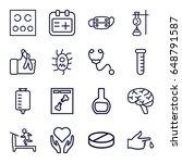 medicine icons set. set of 16...   Shutterstock .eps vector #648791587