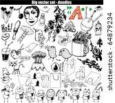 big vector set   doodles | Shutterstock .eps vector #64879234