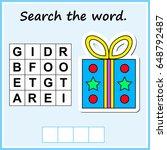 worksheet for preschool kids.... | Shutterstock .eps vector #648792487