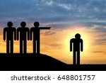humiliation and exile. a crowd... | Shutterstock . vector #648801757