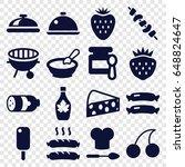 gourmet icons set. set of 16... | Shutterstock .eps vector #648824647