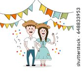 brazilian people celebrating...   Shutterstock .eps vector #648833953