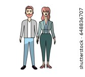 nice couple with hairstyle and... | Shutterstock .eps vector #648836707