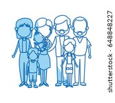 cute family people together... | Shutterstock .eps vector #648848227