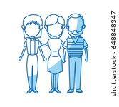 family parent and grandparents... | Shutterstock .eps vector #648848347