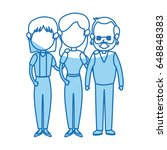 lovely grandparents with young... | Shutterstock .eps vector #648848383