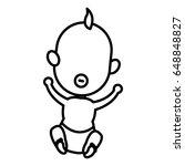 cute baby child newborn family... | Shutterstock .eps vector #648848827