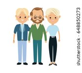 family parent and grandparents... | Shutterstock .eps vector #648850273