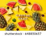 summer concept. conceptual.... | Shutterstock . vector #648850657