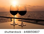 romantic luxury evening on... | Shutterstock . vector #648850807