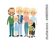 very adorable big family... | Shutterstock .eps vector #648850963