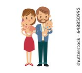 mom and dad holding her baby... | Shutterstock .eps vector #648850993