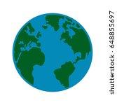global earth map world... | Shutterstock .eps vector #648855697