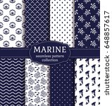 set of marine and nautical... | Shutterstock .eps vector #648857617