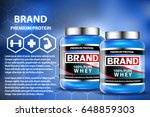 sport nutrition product... | Shutterstock .eps vector #648859303